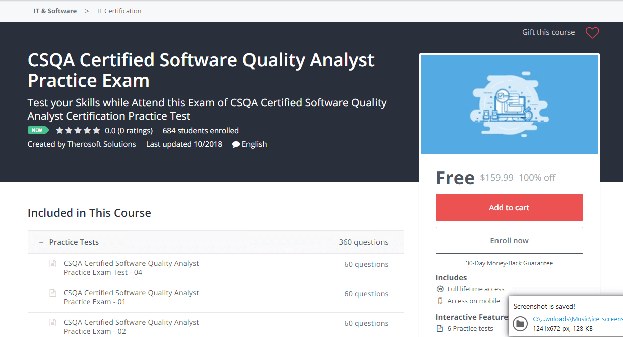 CSQA Certified Software Quality Analyst Practice Exam - Udemy Coupon